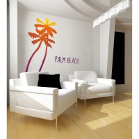 Sticker palm beach 58 cm x 170 cm plage