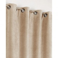Rideau occultant, thermique, alaska, taupe, l.140 x h.260 cm polyester