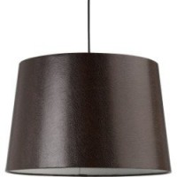 Suspension moderne bling synthétique marron 1 x 60 w mathias synthétique