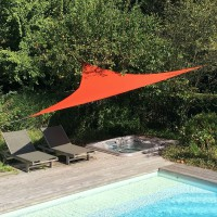 Voile d'ombrage triangulaire terracotta l.360 x l.360 cm easywind