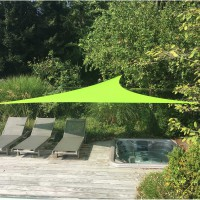 Voile d'ombrage triangulaire vert anis l.560 x l.400 cm easywind