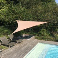 Voile d'ombrage triangle taupe l.500 x l.500 cm easywind