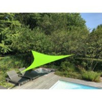 Voile d'ombrage triangle vert anis l.360 x l.360 cm easywind