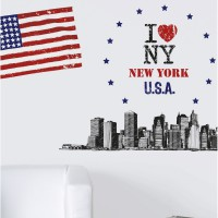 Sticker big apple 47 cm x 67 cm caselio