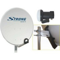 Antenne satellite parabolique acier 80 cm, strong