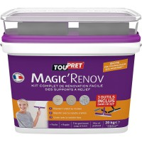 Enduit de lissage pâte magic rénov blanc toupret, 20 kg