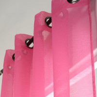 Voilage transparent, dolly, fuschia, l.140 x h.240 cm polyester