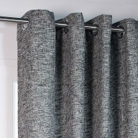Rideau tamisant, whool, anthracite, l.140 x h.260 cm polyester