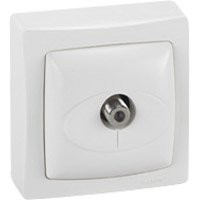 Prise tv type f saillie asl, legrand, blanc