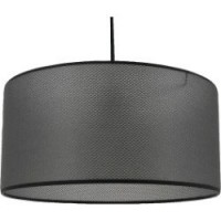 Suspension, e27 design rejilla tissus gris 1 x 60 w metropolight tissus