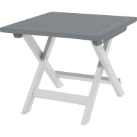 Table city green burano carrée gris 2 personnes