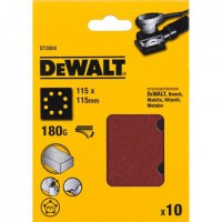 Lot de 10 disques abrasifs, dewalt 115x115 mm, grains 180 d26441