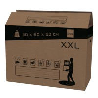 Carton 240 l, l.0 cm x h.80 cm x p.60 cm pack and move