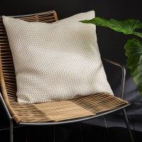 Coussin enzo inspire, beige / blanc l.60 x h.60 cm 100% polyester