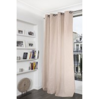 Voilage tamisant, ficelle, l.145 x h.260 cm polylin