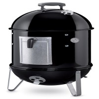 Barbecue au charbon de bois weber smokey mountain cooker, noir