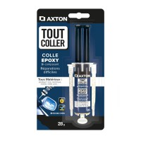 Colle seringue époxy tout coller axton, 28 gr