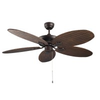 Ventilateur phuket, marron leds c4
