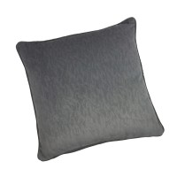 Coussin indiana velours, gris anthracite l.60 x h.12 cm