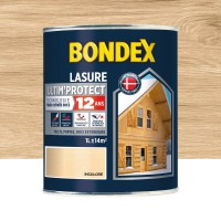 Lasure satin lasure tres haute protection 12 ans incolore 1 l bondex