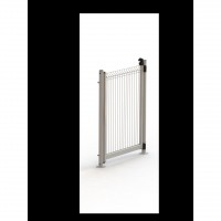 Portillon pour piscine close & swim acier blanc, h.142.7 x l.95 cm