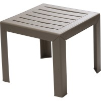 Table basse grosfillex miami carrée taupe 2 personnes