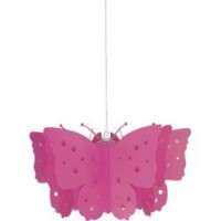 Suspension, e27 enfant butterfly plastique rose 1 x 60 w corep plastique