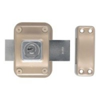 Verrou double cylindre, 45 mm, bricard astral
