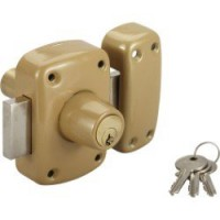Verrou double cylindre, 40 mm, standers diam. 21, 5 goupilles