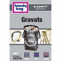 Lot de 5 sacs à gravats de jardin handy bag 50 l