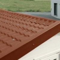 Faîtière pour plaque coverite express terracotta, l.0.74 m coverite pvc