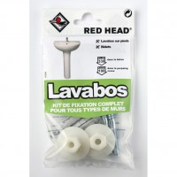 Kit chevilles à expansion lavabo red head, diam.10 x l.30 mm