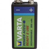 Pile rechargeable, 9 v 200 mah rechargeable accu, varta