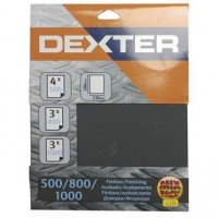 Lot de 10 feuilles abrasives dexter, 230 x 280 mm grains 4 x500, 3 x800, 3 x1000