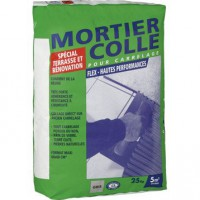 Mortier colle flex, gris, 25 kg