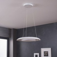 Suspension, led intégrée  fluck synthétique blanc 8 x 2.5 w philips