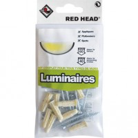 Kit chevilles à expansion luminaire red head, diam.6 x l.25 mm