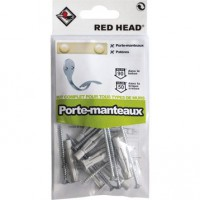 Kit chevilles à verrouillage de forme porte-manteau red head, diam.6 x l.50 mm