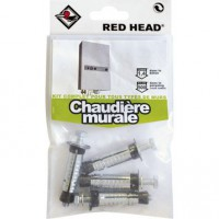 Kit chevilles à expansion chaudière murale red head, diam.12 x l.50 mm