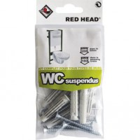 Kit chevilles à verrouillage de forme wc suspendu red head, diam.8 x l.30 mm