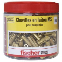 Lot de 280 chevilles à expansion ms fischer, diam.6 x l.24 mm