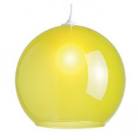 Suspension, e27  shadow verre vert olive 1 x 75 w lussiol