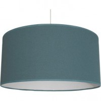 Suspension, e27  natt coton bleu baltique n°3 1 x 60 w inspire