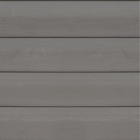 Clin pour bardage pvc gris ral 7045 freefoam solid 3.95 m