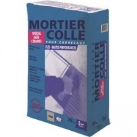 Mortier colle flex gris 25 kg