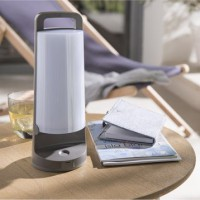 Lampe solaire yuma 180 lm gris inspire