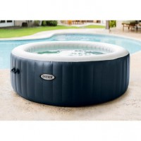 Spa gonflable intex purespa bulles blue navy rond, 6 places assises