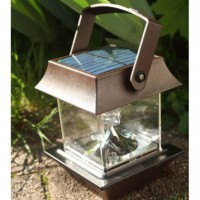Lanterne solaire pagode 30 lm rouille watt & home