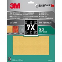 Lot de 3 feuilles abrasives 3m, 228x279 mm grains 80