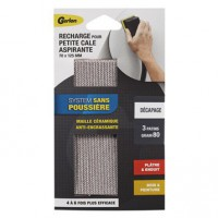 Lot de 3 feuilles abrasives gerlon lour1g, 70x125 mm grains 80